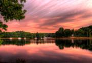 Dawn On The Saco River Print by David Bishop