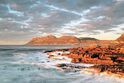 False Prints - Dawn over Simons Town South Africa Print by Neil Overy