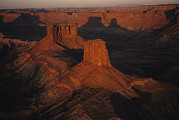National Recreation Areas Prints - Dawn Over The Buttes Of The Cross Print by Melissa Farlow