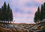 Pacific Crest Trail Paintings - Dawn Pacific Crest Trail by Frank Wilson