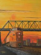 Railroads Painting Framed Prints - Dawn Patrol Framed Print by Christopher Jenkins