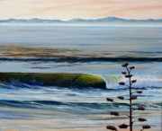 Santa Barbara Paintings - Dawn Patrol Devereux Point by Jeffrey Campbell