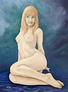 Nude Paintings - Dawn by Tom Morgan