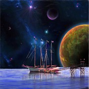 Galactic Painting Metal Prints - Dawn Treader is Now Boarding Metal Print by Earl Jackson