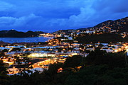 Charlotte Amalie Prints - Dawns Morning Lights Print by Roupen  Baker