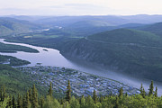 Yukon Framed Prints - Dawson City And The Yukon River Framed Print by Rich Reid