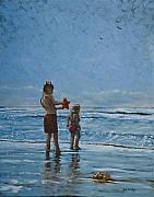 Fripp Prints - Day at the Beach Print by Erik Schutzman