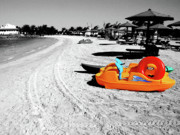 Selective Coloring Posters - Day at the Beach Poster by Graham Taylor