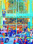Broadway Digital Art Metal Prints - Day Before Christmas at Neiman Marcus . Photoart Metal Print by Wingsdomain Art and Photography