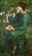 Portrait Paintings - Day Dream by Dante Charles Gabriel Rossetti