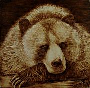 Log Pyrography Posters - Day Dreamer Poster by Jo Schwartz