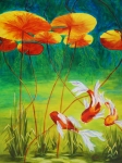 Koi Painting Originals - Day Dreamin by Karen Dukes