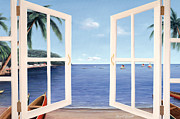 French Door Paintings - Day Dreams by Diane Romanello