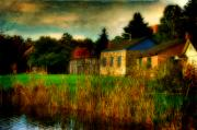 Stone House Digital Art Prints - Day Is Done Print by Lois Bryan