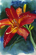 Saving Paintings - Day Lily by Judi Nyerges