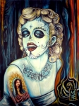 Monroe Painting Originals - Day of Dead Marilyn by Michael Espinosa