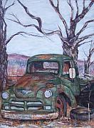 Chevrolet Pastels - Day of Rest - Old Friend IV by Alicia Drakiotes