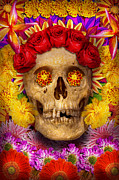Sugar Skull Posters - Day of the Dead - Dia de los Muertos Poster by Mike Savad