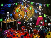 Crows Paintings - Day Of The Dead Festival by Pristine Cartera Turkus
