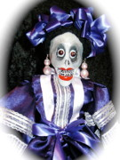Three Dimensional Sculptures - Day of the Dead folk puppet by Joie Morillo