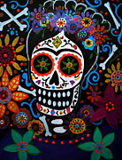 Turkus Framed Prints - Day Of The Dead Frida Kahlo Painting Framed Print by Pristine Cartera Turkus