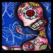 Instagroove Art - Day Of The Dead Painting #abrilandrade by  Abril Andrade Griffith