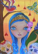 Swallow Paintings - Day of the Dead Princess by Jaz Higgins