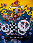 Serenata Posters - Day Of The Dead Poster by Pristine Cartera Turkus