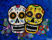 Pristine Cartera Turkus Posters - Day Of The Dead Sugar Poster by Pristine Cartera Turkus