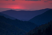 Great Smoky Mountains Prints - Day Over in the Smokies Print by Andrew Soundarajan