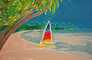 Sand Pastels - Day Sailer by First Star Art