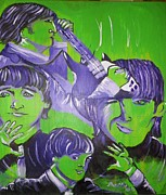 Paul Mccartney Painting Originals - Day Tripper by Modesto Aceves