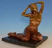 Female Form Sculptures - Daybreak by David Varnau