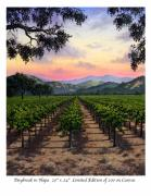 Napa Valley Vineyard Paintings - Daybreak in Napa by Patrick ORourke