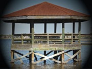 Pier Digital Art - Daydream Gazebo by DigiArt Diaries by Vicky Browning