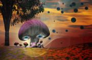 Magic Mushrooms Prints - Daydreaming Print by Carol and Mike Werner