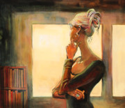 Figure Painting Originals - Daydreaming by Sue  Darius