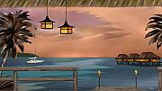 Sailing Paintings - Days End by Gordon Beck