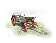 Farm Equipment Digital Art - Days Gone By by Larry Fields