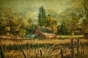Old Barn Mixed Media Posters - Days Gone By Poster by Reflective Moments  Photography and Digital Art Images