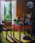 Kitchen Chair Paintings - Daytime by Felicia Rall