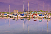 Sail Boats Prints - Daytona Beach Boat Docks Print by Deborah Benoit