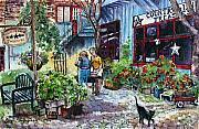 Streetscape Paintings - Daytripper  by Margit Sampogna