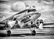 Dc-3 Plane Framed Prints - DC-3 Dakota Framed Print by Ian Merton