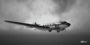 Clouds Photographs Digital Art - DC-3 Over Water by Mark Weller