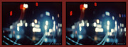 Converge Prints - DC Lights - Gently cross your eyes and focus on the middle image Print by Brian Wallace
