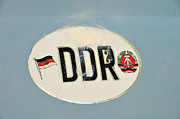 Logos Posters - DDR sticker Poster by Matthias Hauser