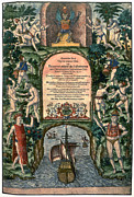 Frontispiece Framed Prints - De Bry: Frontispiece Framed Print by Granger