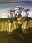 Horizon Paintings - De-Fence Mechanism by Jane Whiting Chrzanoska