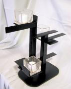 Featured Sculptures - De Stijl Candle Holder model 3 angle view 2 by John Gibbs